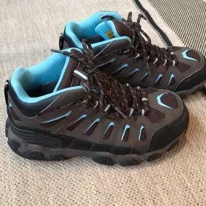 Work boots, steel toe, waterproof, EUC, size  8